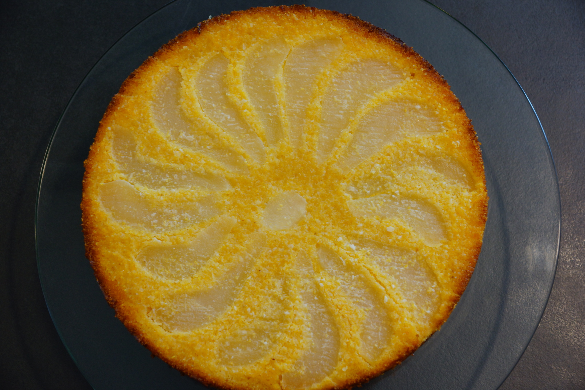 Lemon Pear Polenta Cake