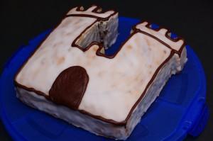 Zebra cake castle