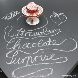 Chocolate Strawberry Surpise Cupcake | schabakery.com