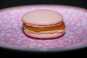 Macaron with salted caramell butter