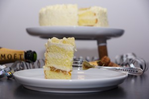 White Chocolate Mango Champagne Cake | schabakery.com