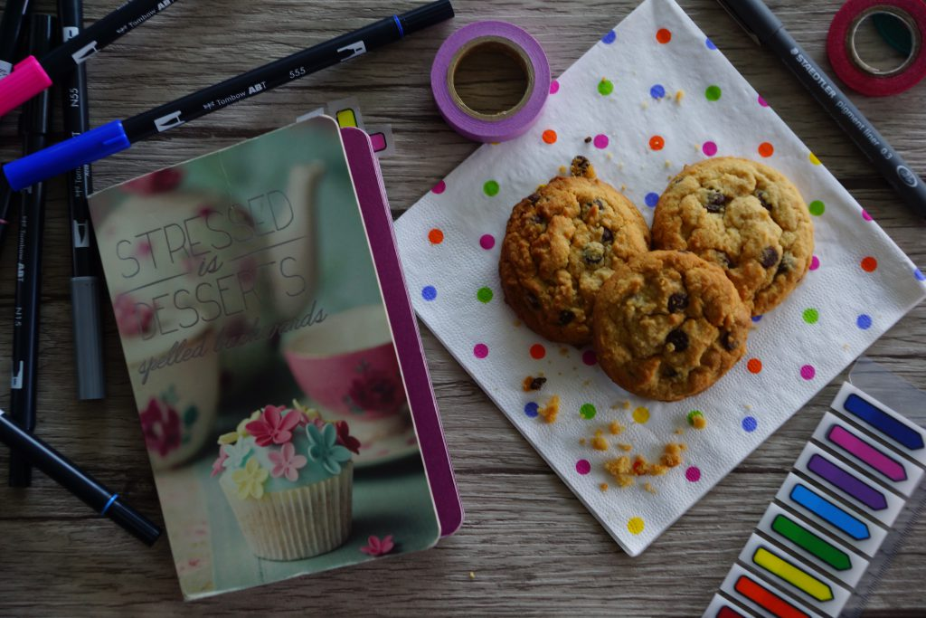 Bullet journal & Peanutbutter Cookies | schabakery.com