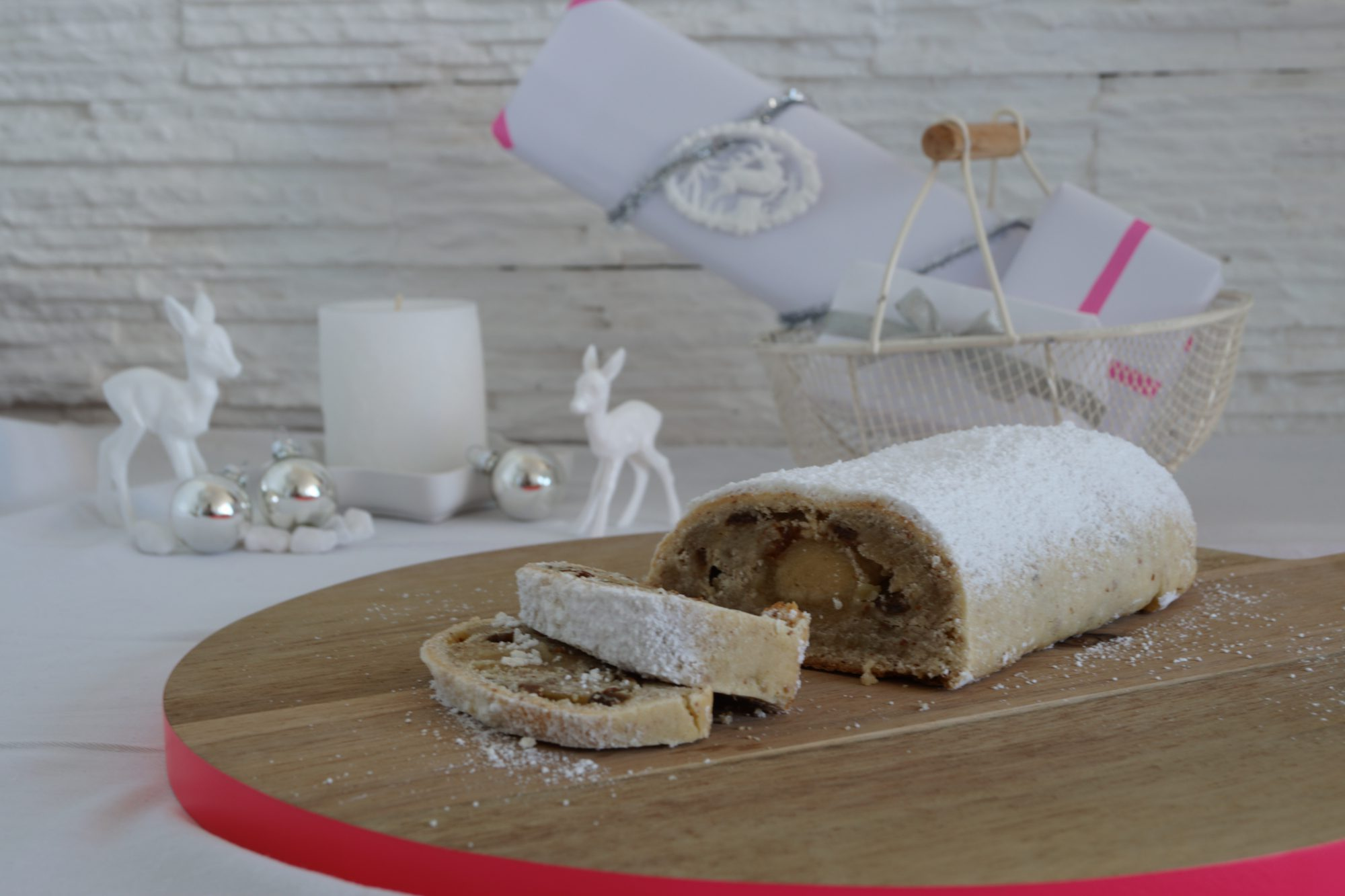 German Stollen (Christmas fruit cake) | schabakery.com