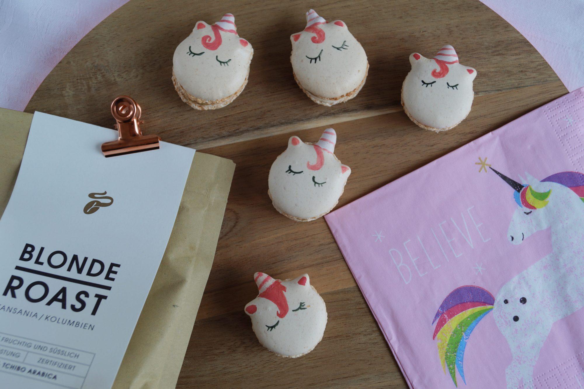 Coffe Unicorn Macaron | schabakery.com
